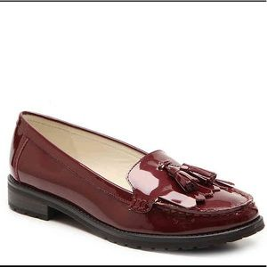 """Anne Klein Patent Leather Loafers (New) 1"""" Heel"""